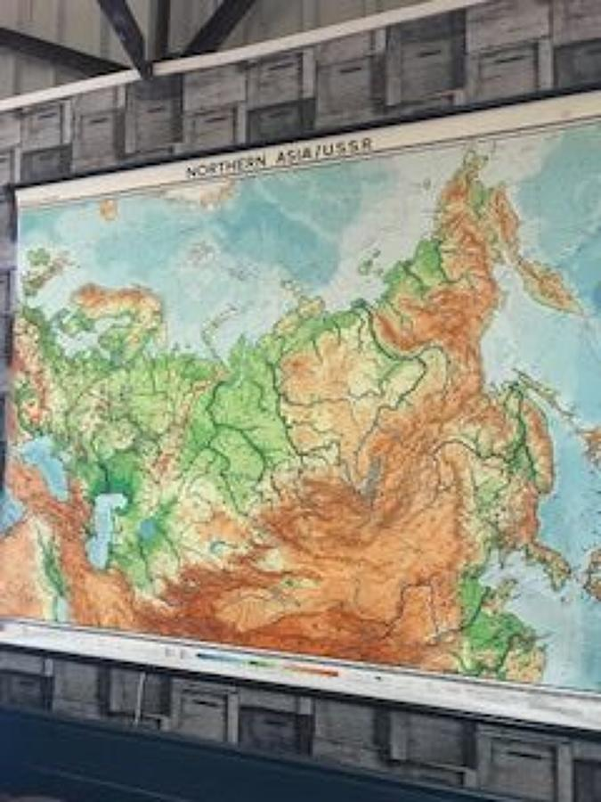 1963 Educational Asia/USSR Map
