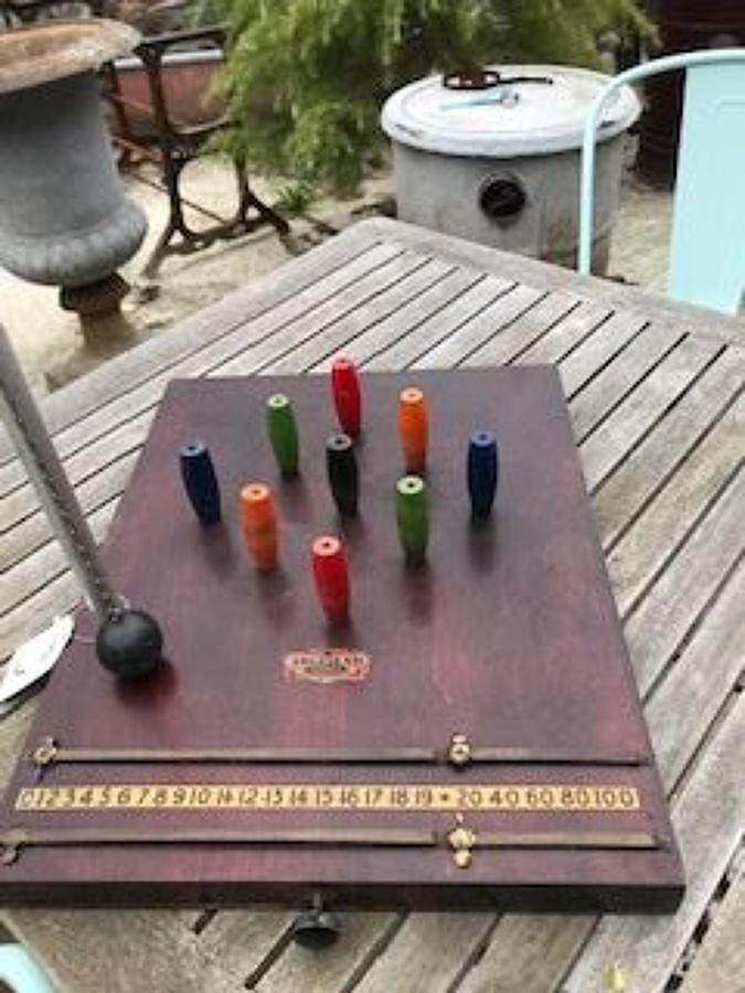 Vintage Table Skittles Pub Game
