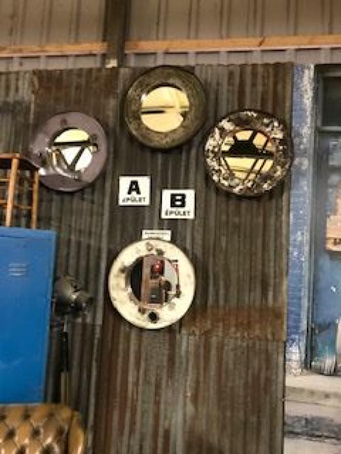 Industrial Oil Drum Mirrors