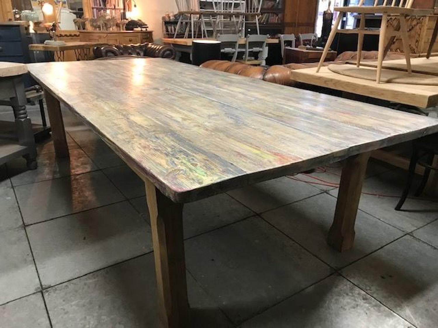 Reclaimed Farmhouse style Oak & Pine Table