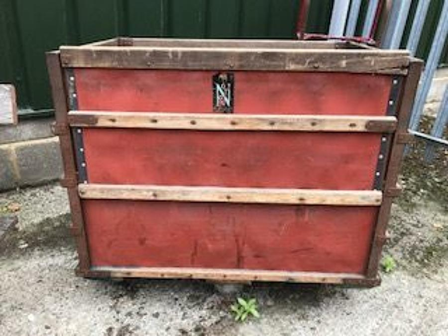 Vintage cotton mill trolley