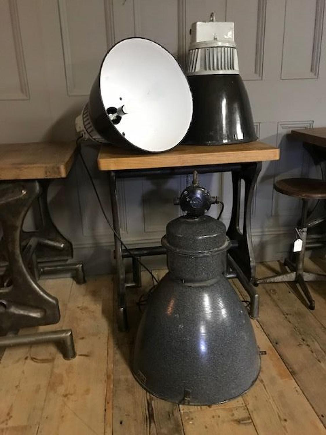 Large Vintage Industrial Light