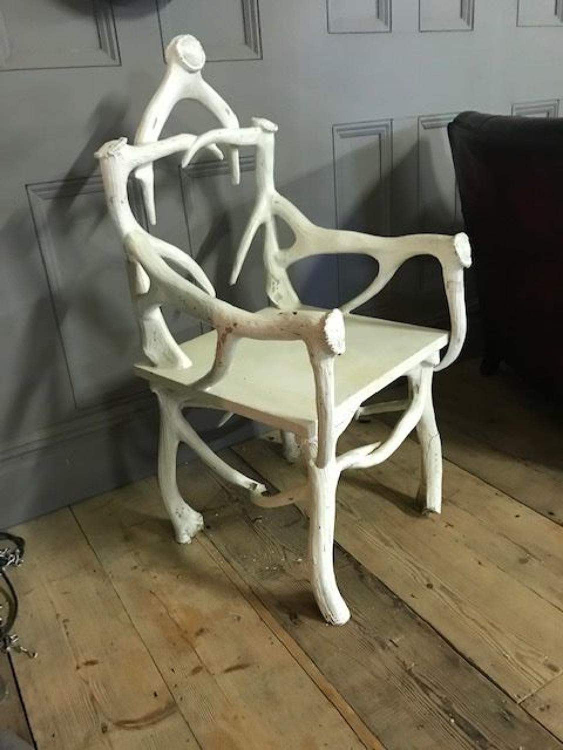 Unique Vintage Chair made From Antlers