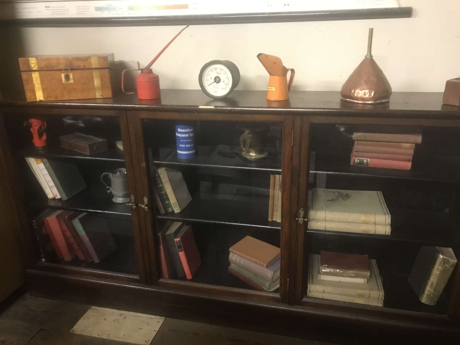 Baughan & co early 20th century shop display cabinet bookcase